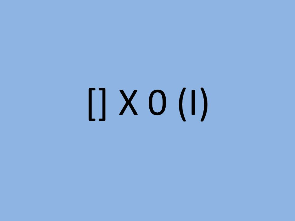 [] X 0 (I)